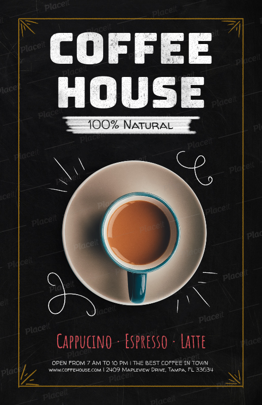 placeit online flyer maker to design coffee shop flyers