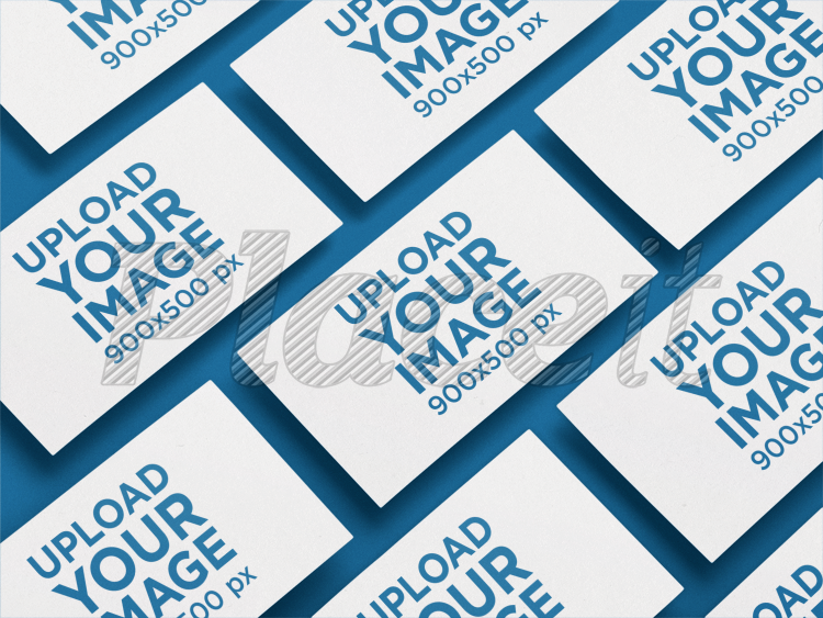 Placeit Business Card Mockup Of Multiple Cards In An Angled