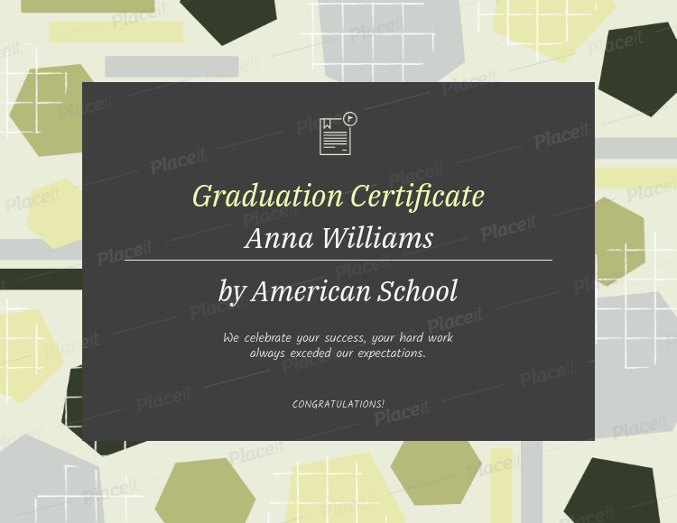 Graduation Certificate Maker with an Abstract-Styled Background 1671e