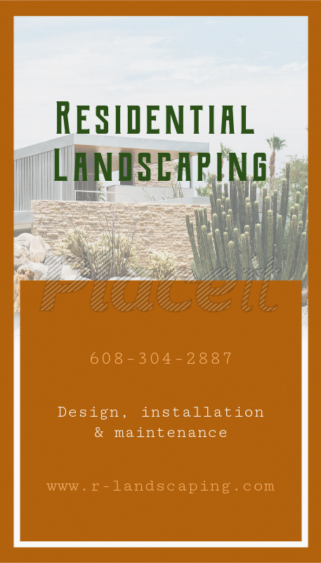 placeit online business card maker for landscaping business