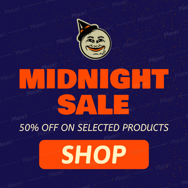 Banner Generator for a Halloween Midnight Sale 755i