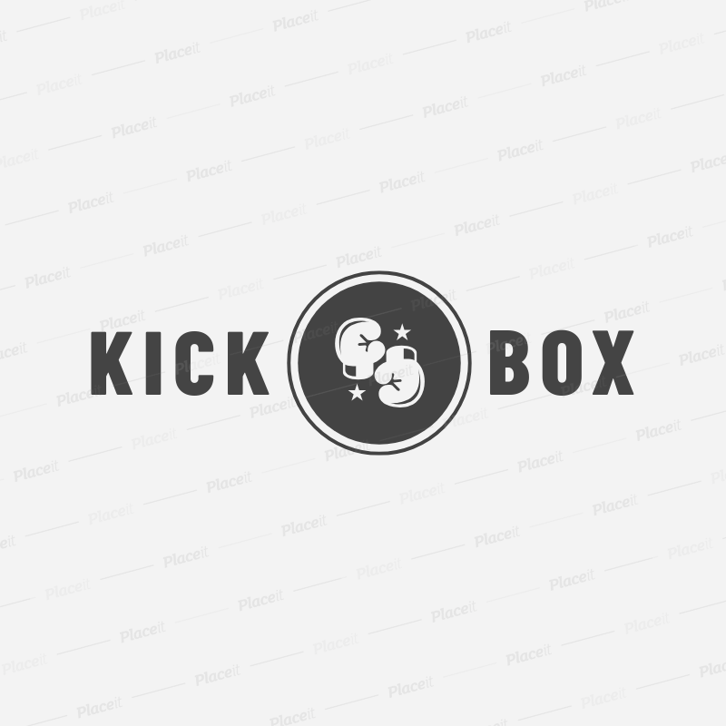 687c32bd Placeit - Online Logo Maker for Kickboxing Gyms