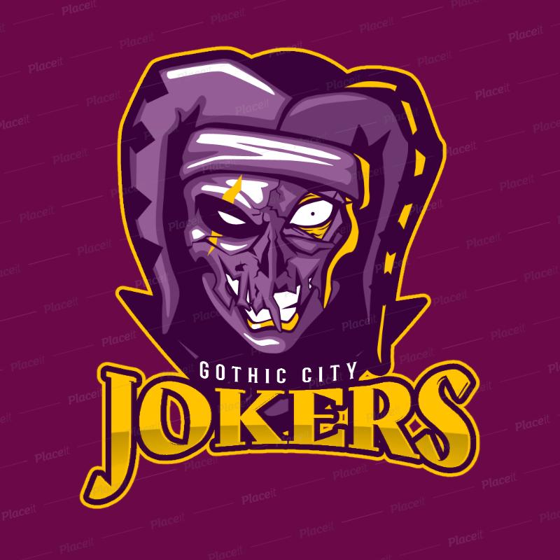 eSports Logo Generator Featuring an Evil Joker Illustration 1750t 2361